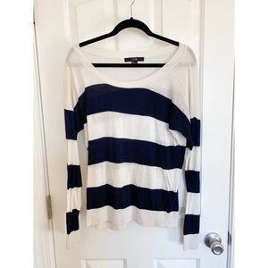 Forever 21 Striped Navy Sweater
